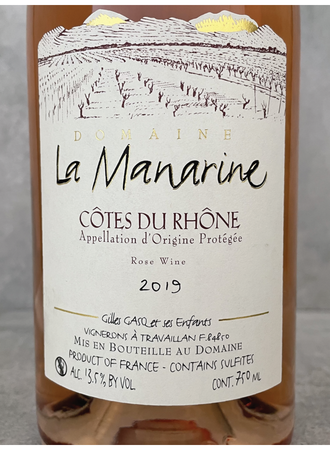 Cotes Du Rhone rosé 2019