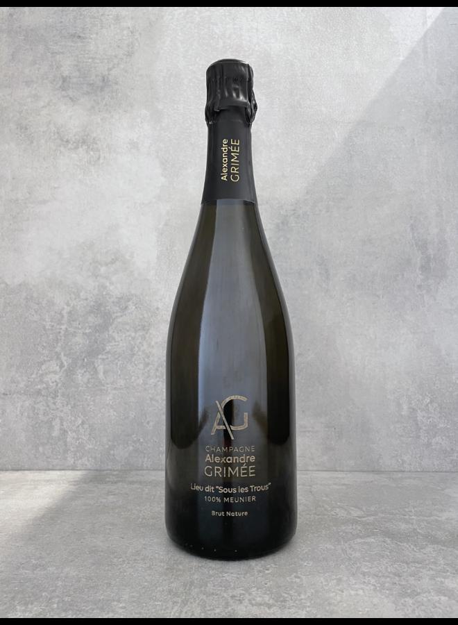 Champagne 'Sous les Trous' (tirage 1697 btl) 2016