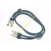 BMS BMS tulp naar tulp kabel 5m Gold Master Series