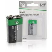 HQ Varta oplaadbare batterij E-blok 9V 240mAh 6F22