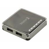 König USB Hub 4 poorts Konig CSU2H4P100BL