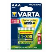 Varta Varta oplaadbare batterij AAA 1000mAh 1.2V LR03
