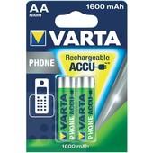 Varta Varta telefoonbatterij AA 1600mAh 1.2 Volt