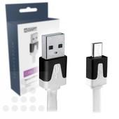 A-DAPT Micro USB-B laad- / datakabel plat 1m T085
