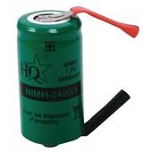 HQ NiMH Batterij Pack 1.2V 2400mAh NIMH-2400/1
