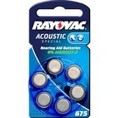 Rayovac Universele batterij voor gehoorapparaat 675 PR44 1.45V