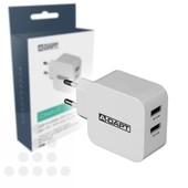 A-DAPT A-DAPT thuislader 2x USB-A  2.4 Amp T169