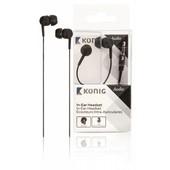 König König stereo hoofdtelefoon met microfoon zwart CSHSIER200BL