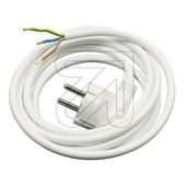 EGB EGB aansluitsnoer met stekker 3m wit 3x1.5mm2