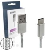A-DAPT A-DAPT USB-C laad- / datakabel 1m nylon T182 wit