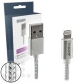 A-DAPT A-DAPT Apple Lightning naar USB laad- / datakabel 1m MFI nylon wit T185