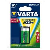 Varta Varta oplaadbare batterij E-blok 9 volt 200mAh 6F22