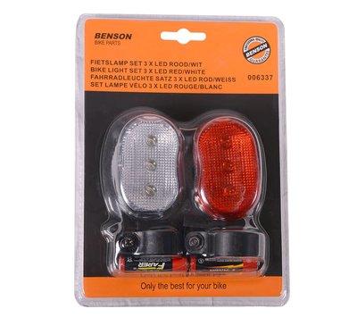 Benson universele set LED fietslampen 006337