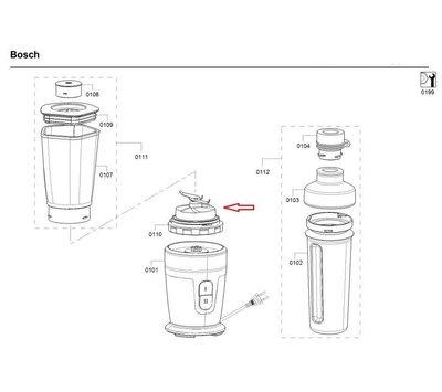 Bosch mes van staande mixer 12014030