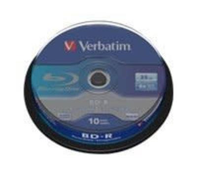 Verbatim BD-R 25GB 6xspd wide 10st.