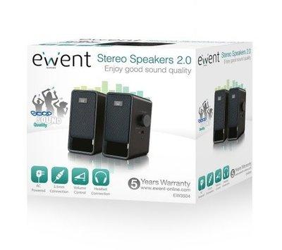 Ewent compacte 2.0 stereo luidsprekers EW3504