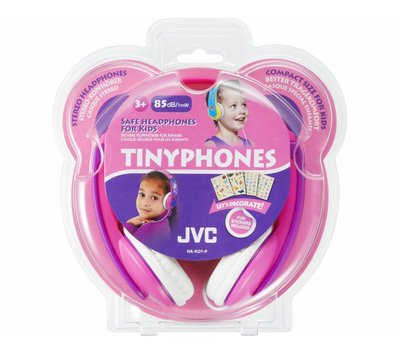 JVC TinyPhones hoofdtelefoon met begrensd volume HA-KD7-P roze