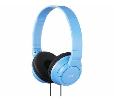 JVC lichtgewicht hoofdtelefoon PowerFul Bass Sky Blue HA-S180-AN-E