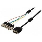 Valueline VGA naar BNC kabel 2m VLCP59800B20