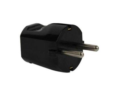 EGB stekker met randaarde hard PVC zwart