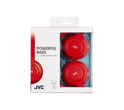 JVC lichtgewicht hoofdtelefoon PowerFul Bass Fine red HA-S180-RN-E