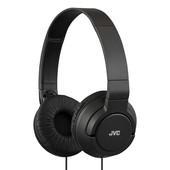 JVC JVC lichtgewicht hoofdtelefoon PowerFul Bass zwart HA-S180-B-E