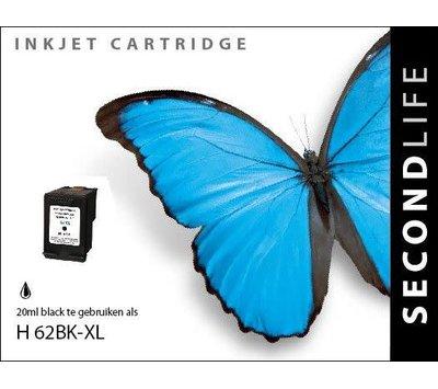 SecondLife inktcartridge voor HP 62XL zwart C2P05A