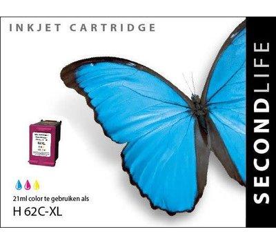 SecondLife inktcartridge voor HP 62XL kleur