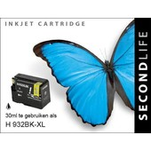 SecondLife SecondLife inktcartridge voor HP 932 XL zwart