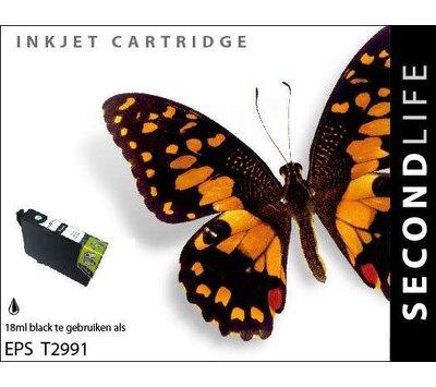 SecondLife inktcartridge voor Epson T2991 zwart