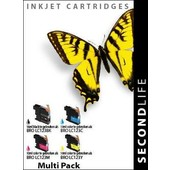 SecondLife SecondLife  inktcartridges voor Brother LC123 Multipack XL