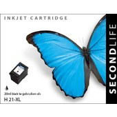 SecondLife SecondLife inktcartridge voor HP 21 XL zwart