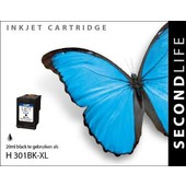 SecondLife SecondLife inktcartridge voor HP 301XL zwart