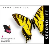 SecondLife SecondLIfe  inktcartridge voor Brother LC123M rood