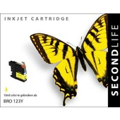 SecondLife SecondLife inktcartridge voor Brother LC123Y geel