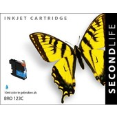 SecondLife SecondLife  inktcartridge voor Brother LC123C blauw