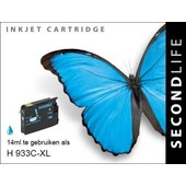 SecondLife Secondlife inktcartridge voor HP 933CXL Blauw CN054AE