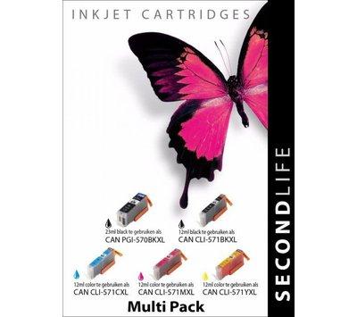 SecondLife inktcartridge voor Canon 570/571XL multipack