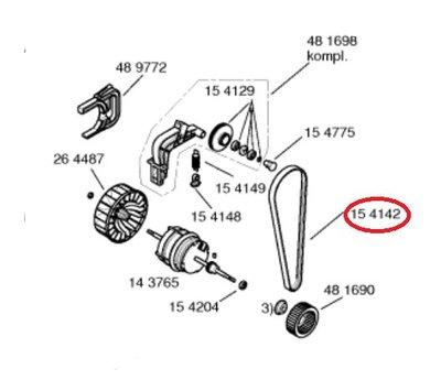 Poly-V-snaar 288 J3 Bosch 00154142