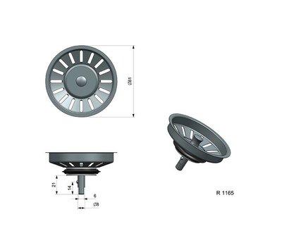 Reginox korfplug voor spoelbak R1165 R16893