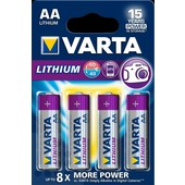 Varta Varta batterij AA/penlite/LR06 1.5V Lithium 4stuks