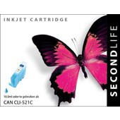 SecondLife SecondLife inktcartridge voor Canon CLI-521C Blauw