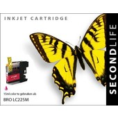 SecondLife SecondLife  inktcartridge voor Brother LC225M rood