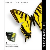 SecondLife SecondLife  inktcartridge voor Brother LC980BK LC1100BK XL zwart