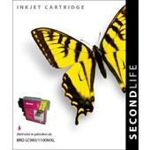 SecondLife SecondLife  inktcartridge voor Brother LC980M LC1100M XL rood