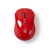 Nedis Draadloze muis 3 Knoppen 1000 dpi  rood MSWS400RD