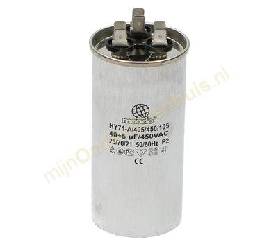 Universele condensator 40+5ΜF 450V