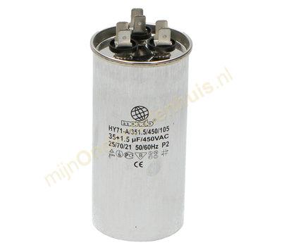 Universele condensator 35+1.5ΜF 450V