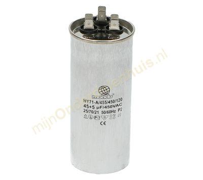 Universele condensator voor Airco 45uF+5uF 450V