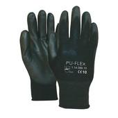 Universeel Nylon paar zwarte handschoenen easy grip PU-FLEX-B